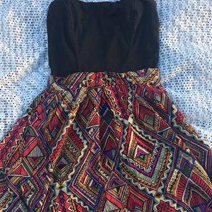 Strapless Tribal Summer Dress